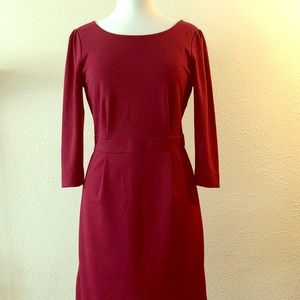 Cranberry dress from Banana Republic